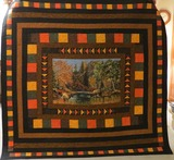 Auction item - quilt handcrafted by Floy Kenyon