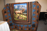 Quilt made by Floy Kenyon for the auction