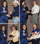Sue W. presenting awards to Monte North, Mike Ferguson, Jim Pankow, Ray Matejcek