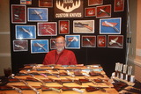 Keith Richard with his handcrafted knives